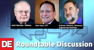 Panelists for DE's upcoming roundtable discussion on lightweighting (left to right): Keith Meintjes, CIMdata; Alan Taub, LIFT; and Andreas Vlahinos, Advanced Engineering Solutions.