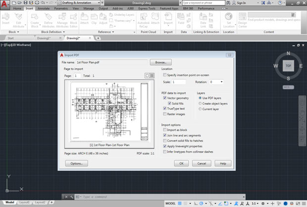 Autocad 2017 a new beginning you can now import geometry from a pdf file adding it to your autocad drawing image courtesy of david cohn fandeluxe Gallery