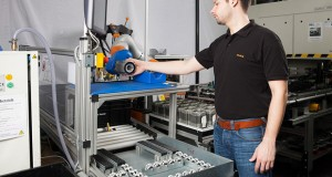 "The solution of a ""Knight concept"" allows KUKA's robots to be implemented or removed as needed. Image courtesy of KUKA."