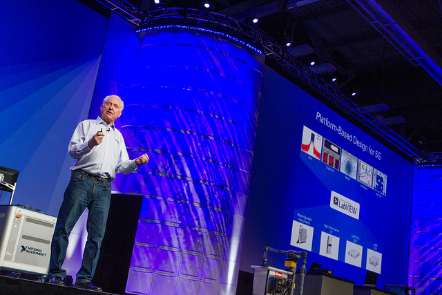 DR. T addresses attendees at NIWeek 2016.