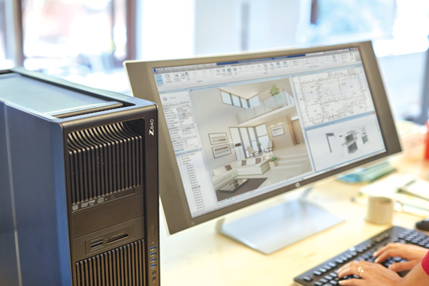 With HP's Remote Graphics Software (RGS), you can remotely access and work with your workstation-installed applications from a mobile tablet. Image courtesy of HP.