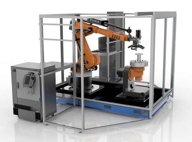 The Stratasys Robotic Composite 3D Demonstrator. Image courtesy of Stratasys.