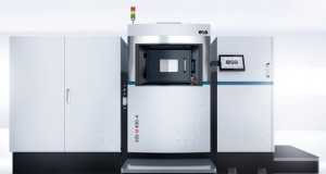 EOS says that its new EOS M 400-4, a four-laser direct metal laser sintering (DMLS) additive manufacturing system, provides greater volumes and increased productivity for industrial applications. Image courtesy of EOS.