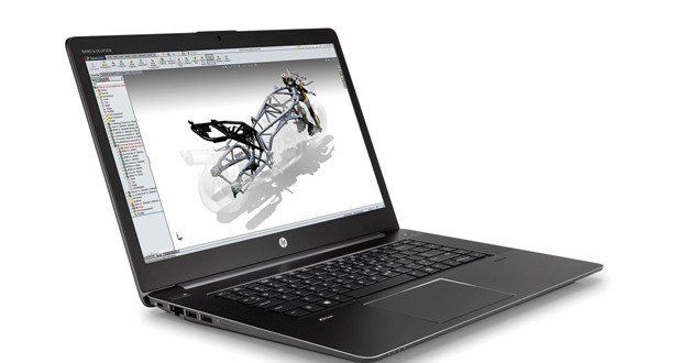 The HP ZBook Studio G3 earns kudos as the world's first quad-core workstation ultrabook. Image courtesy of HP.