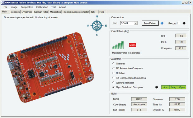 NXP's new software helps engineers with sensor fusion applications. Image courtesy of Sensor Fusion.