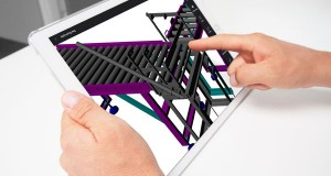 The latest edition of Graebert Ares Touch, .dwg-compatible mobile CAD tool, adds the iPad Pro to the list of supported devices. Touch offers a full 2D drafting toolset and can do 3D rendering, viewing, and multi-format annotation (text, audio, images, dimensions). Image courtesy of Graebert GmbH.