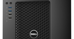 The Dell Precision 3620 mini tower features a new look and very good performance for an entry-level system. Image courtesy of Dell.