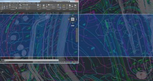 The AutoCAD 2017 Fall Update release debuts a new off-screen selection functionality. With it, selected objects stay within the selection set even if you pan or zoom them off the screen. Image courtesy of Autodesk Inc.