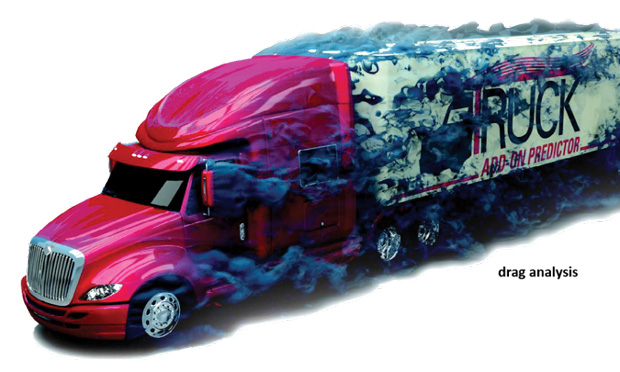 Tractor-trailer aerodynamic drag analysis executed on AweSim platform. Image courtesy of AweSim.