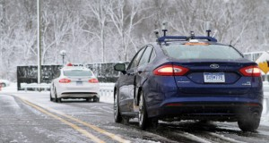 Ford's autonomous vehicles employ high-resolution 3D mapping and LIDAR to facilitate driving in bad conditions when road markings aren't visible. Image courtesy of Ford.