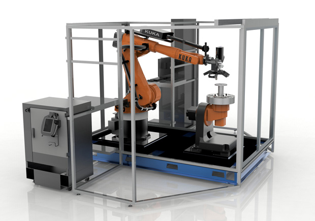 The Robotic Composite 3D Demonstrator from Stratasys uses a robotic arm with an extruder for greater motion control. Image courtesy of Stratasys.