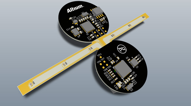 Altium Designer was used to create flexible circuitry. Image courtesy of Altium.