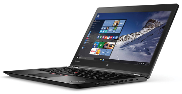 The Lenovo ThinkPad P40 Yoga is a thin, ISV-certified Ultrabook workstation weighing just 3.85 lbs. Image courtesy of Lenovo.