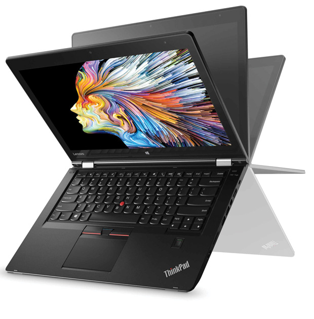 The Lenovo ThinkPad P40 Yoga easily converts from a thin, ISV-certified Ultrabook workstation weighing just 3.85 lbs, into a Wacom-powered tablet. Image courtesy of Lenovo.