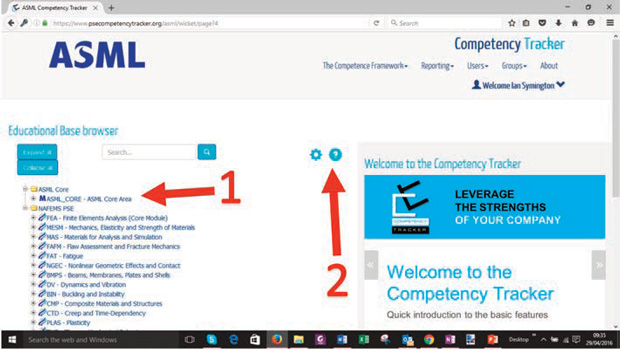 Figure 6. ASML Customized Competency Tracker. Image courtesy of ASML.