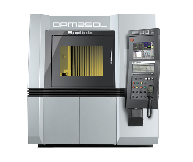 Sodick's OPM250L introduces a 45,000 RPM mill during the sintering process within the same machine for manufaturing. Image courtesy of Sodick.