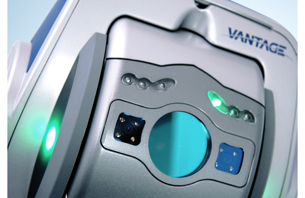 FARO's Vantage Laser Trackers include two integrated cameras as well as integrated wireless networking. Image courtesy of FARO.