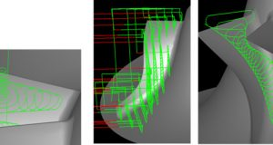 A new optional module for the Agile Engineering Design System's MAX-PAC CAM software enables the creation of 3-axis roughing toolpaths at an arbitrary angle (3+2) within the same MAX-PAC environment used to generate specialized 5-axis toolpaths. Image courtesy of Concept NREC.