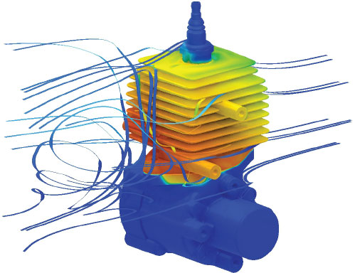 Multiphysics simulation-based design analyses can help engineers, designers and researchers understand and manage thermal conditions to achieve optimal and reliable performance. Image courtesy of ANSYS Inc.