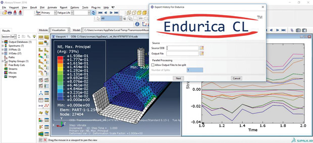 Endurica CL is a standalone package for elastomers, but it also integrates with other standard simulation programs like Dassault Systèmes' Abaqus. Image courtesy of Endurica.