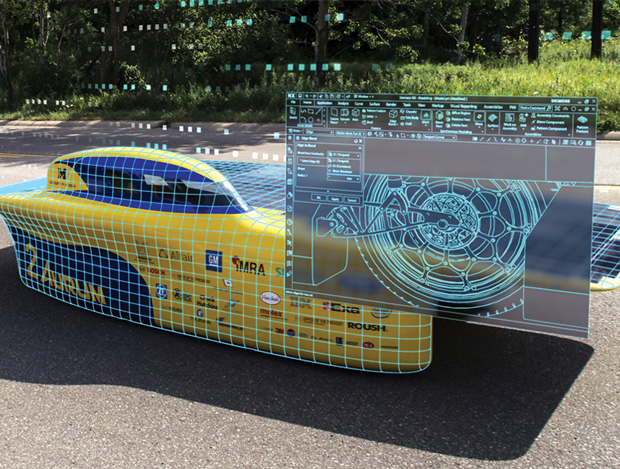 Building off lessons learned from the Aurum vehicle, UofM's Solar Car team is taking a more aggressive systems engineering approach with its latest design. Image courtesy of Michigan Engineering.