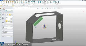 Among the sheet metal enhancements introduced in the 2017 version of the ZW3D integrated CAD/CAM system are improvements to its full and partial flange capabilities. Image courtesy of ZW3D/ZWCAD Software Co. Ltd