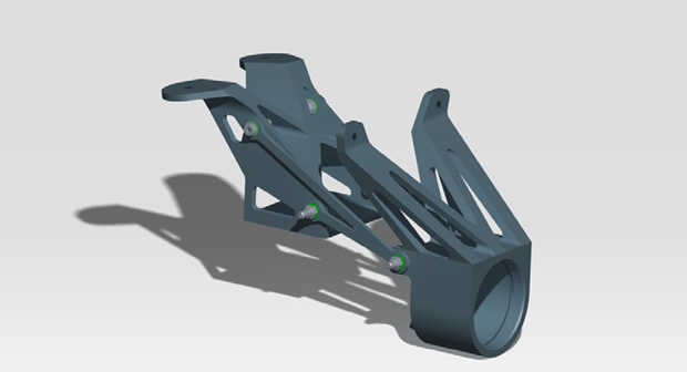 Original steering column assembly. Image courtesy of solidThinking.