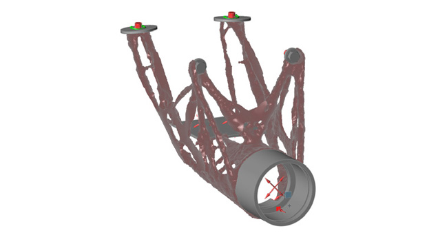 Inspire Optimization of steering column. Image courtesy of solidThinking.