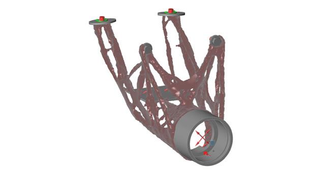 Inspire Optimization of steering column. Image courtesy of solidThinking.