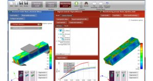 In version 2017.0, the Digimat-RP Solution for analyzing reinforced plastic parts has been enhanced with new extended support for widely deployed FEA (finite element analysis) systems. Image courtesy of e-Xstream engineering SA.