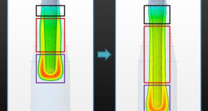 The glass forming process is also extremely sensitive to changes in machine timing, glass composition and environmental conditions. Image courtesy of Bottero/Siemens PLM Software.