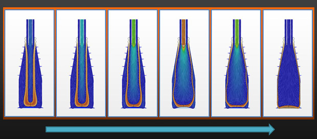 Bottero use simulation not only help the bottle design, but engineers were also able to decrease the bottle mass. Image courtesy of Bottero/Siemens PLM Software.