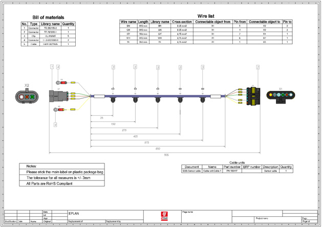 Wire drawings eplan wire harness design system updated wire harness drawing at bayanpartner.co