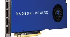 The Radeon Pro WX 7100 GPU.