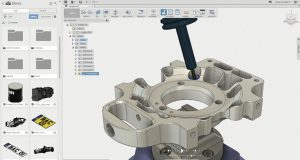 Autodesk Fusion 360 is a cloud-enabled collaborative product development platform that offers CAD, CAM and simulation features in a concurrent access environment. Image courtesy of Autodesk.