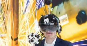 Augmented reality and virtual reality hardware are expected to play an important role in Industry 4.0. Image courtesy of Hannover Messe.