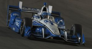 Simon Pagenaud participates in pre-season testing at Phoenix International Raceway behind the wheel of his No 1 PPG Dallara Chevrolet IndyCar. Photo courtesy of Stratasys.