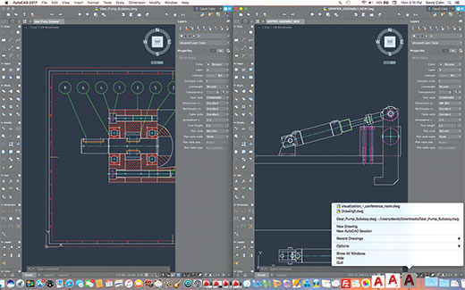 Users Can Open Multiple AutoCAD For Mac Sessions And Arrange Windows To  Compare Drawings Side By