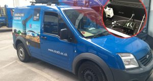 Mobile air quality system integrated in vans. Image courtesy of Libelium/CENSIS.