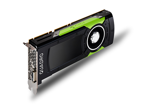 NVIDIA says that its new 16GB Quadro GP100 GPU (graphics processing unit) unifies compute and design, effectively transforming the average engineering desktop workstation with the power of a supercomputer. Image courtesy of NVIDIA Corp.