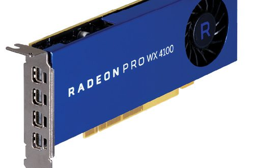 Fig. 1: The AMD Radeon Pro WX 4100 low-profile workstation graphics card.