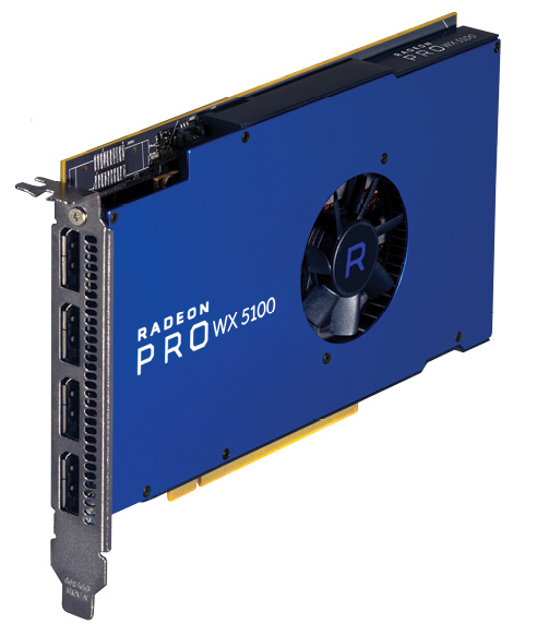 Fig. 2: The mid-range AMD Radeon Pro WX 5100.