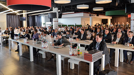 More than 200 users of CADENAS technology gathered in Augsburg, Germany in March 2017 for the 18th annual CADENAS Industry Forum. Image courtesy of CADENAS.