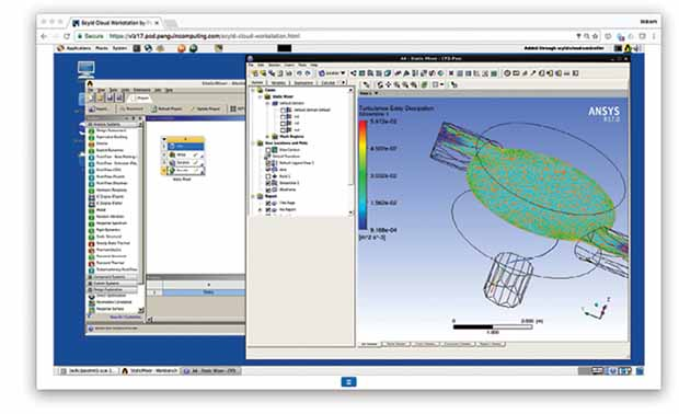 POD, or Penguin Computing on Demand, allows you to run simulation on Penguin Computing's on-demand infrastructure. Image courtesy of ANSYS.