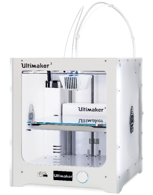 The Ultimaker 3 is capable of great quality 3D prints, but be prepared to wait for them. Image courtesy of Ultimaker.