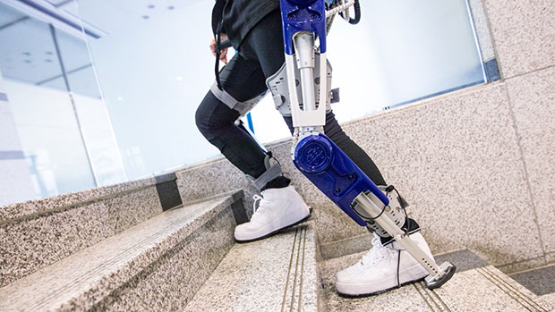 Life-caring exoskeleton in use. Image courtesy of NI.