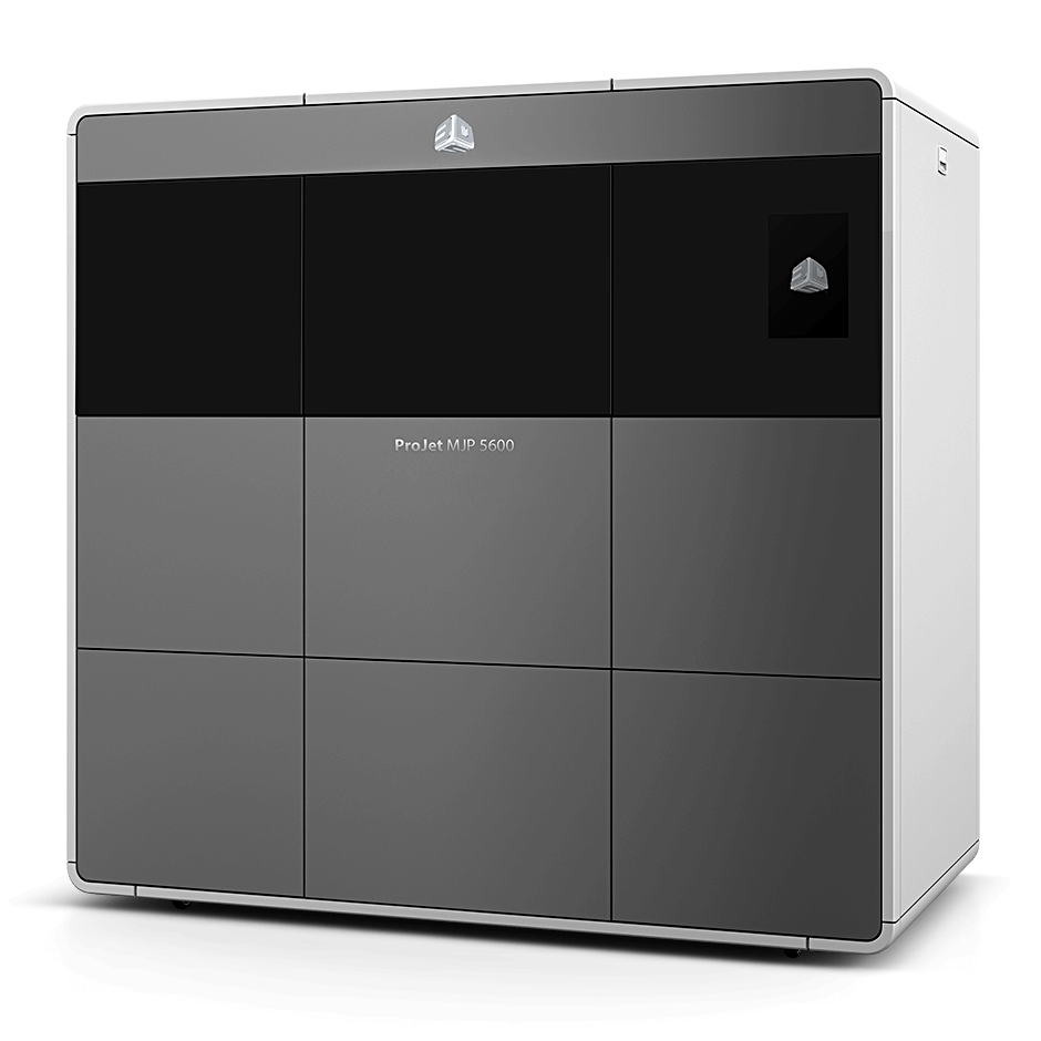 The ProJet MJP 5600 is a large format, multi-material 3D printer the company says offers print speeds up to two times faster and part costs up to 40% less than competing multi-material 3D printers. Image courtesy of 3D Systems.