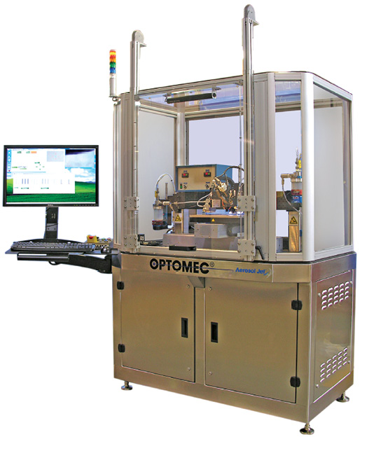 Optomec uses Aerosol Jet technology for electronics 3D printing. Image courtesy of Optomec.