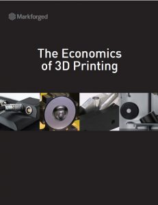"The white paper, ""The Economics of 3D Printing,"" uses real numbers and a set of easy-to-use equations that can help you determine the return on your investment in a production-grade 3D printing system. Image courtesy of Markforged Inc."