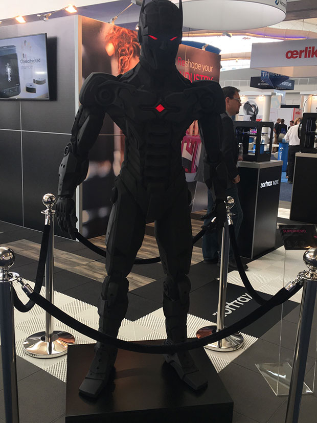 Embrace your superhero. One of many 3D-printed objects spotted on the show floor of RAPID+tct's annual conference in Pittsburgh.